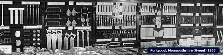 An extended range of Do-It-Yourself at Woolworths in Pontypool, Monmouthshire (Gwent) in 1953