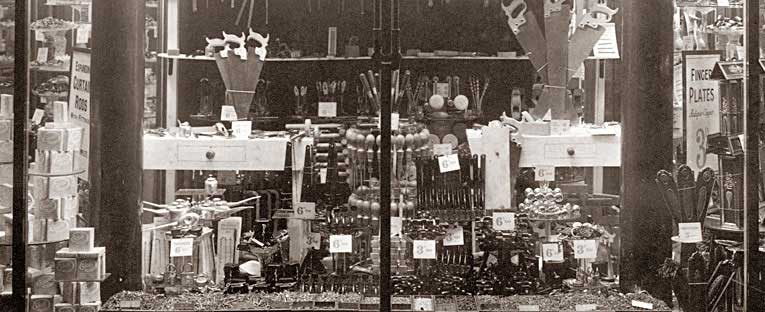 An eleborate window display of tools and diy equipment at Woolworths in London Road Liverpool in 1931. The picture was taken for the company by the legendary Architectural Photographer Stewart Bale