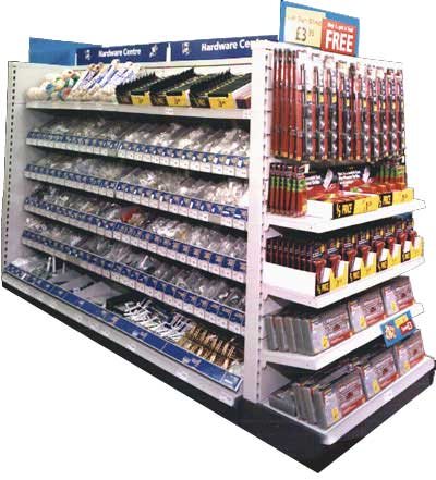 A typical DIY display from a Woolworths store during the Kingfisher years 1982-2002
