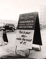 All British Managers and selected Associates from Woolworth stores in the Commonwealth and North America met for a Convention in London on 2nd March 1959 in honour of the 50th Birthday