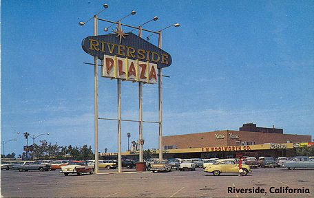 Riverside Plaza, Riverside, California - home to one of more than a hundred new Shopping Center stores for F. W. Woolworth in the 1950s, in a $320m investment programme.