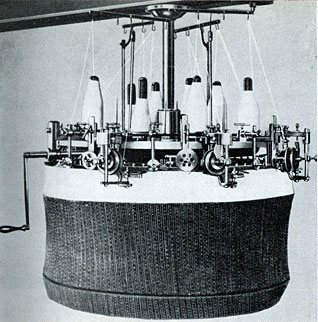 One of Pasold's knitting machines in 1861
