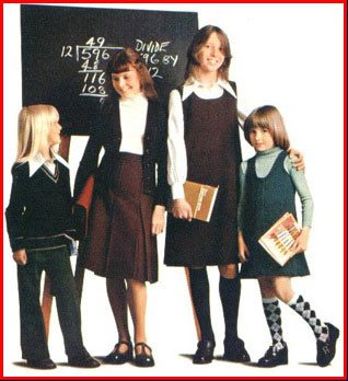 Back to School fashions from Woolworths in the 1970s