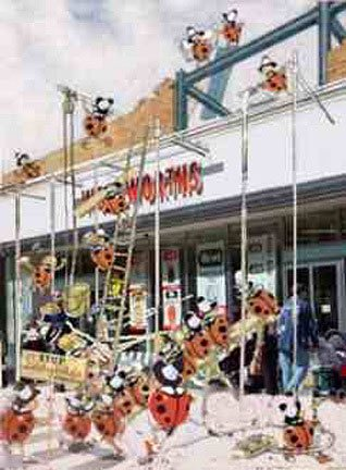 The Ladybirds arrive at Woolworths (1985)