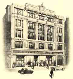"Originally described as ""An artist's impression of ""a typical Woolworth store, found in High Streets across the British Isles"" this engraving shows the flagship Woolworth store in London's Oxford Street, W1."