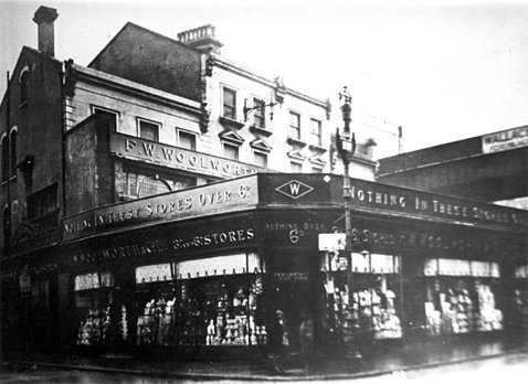 The first suburban London F. W. Woolworth store in fashionable Brixton Road, about three miles from the City. It opened on 10 December 1910.
