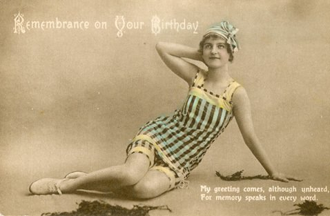 A postcard-type birthday card from F. W. Woolworth & Co. Ltd. from before the First World War.  Cards like this were two for threepence, about 1p each