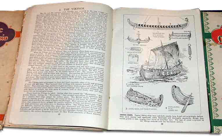 An example spread for The Story of Britain, Woolworths' best selling book from the Twentieth Century