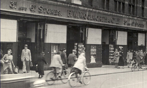The North End Croydon store fortified for the blitz at Christmas 1939