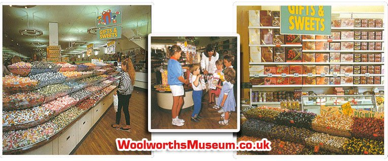 Gifts and Sweets - the confectionery and pic'n'mix offer helped to establish Woolworths as Europe's largest confectionery retailer