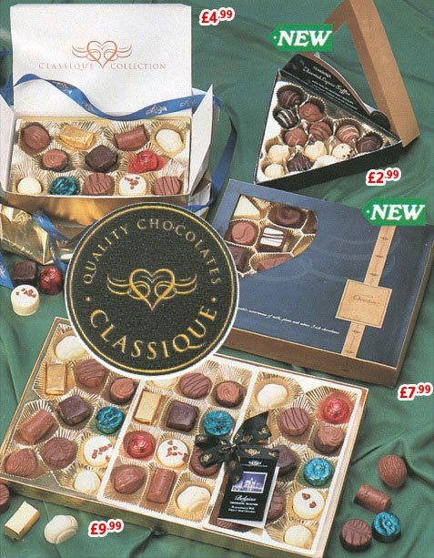 Classique Chocolatier - an exclusive selection of boxed chocolates at Woolworths which bolstered profits in the 1980s and 1990s - and also tasted delicious!
