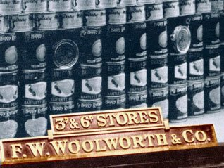Tinned fruit, tuna and salmon chunks were all offered from the sweets department of Woolworths in the late 1930s. It wasn't long before some customers were jolly glad that they had laid some away!