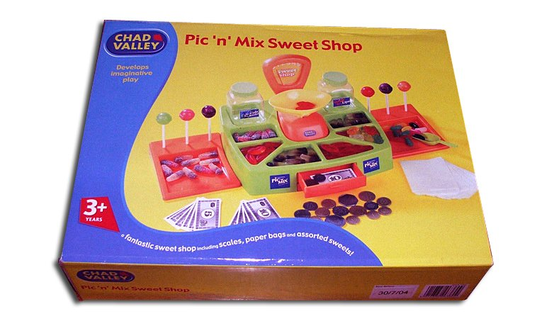 Chad Valley's version of the Woolworths Pic'n'Mix - one of the most popular toys in the range during the 1990s and early 2000s