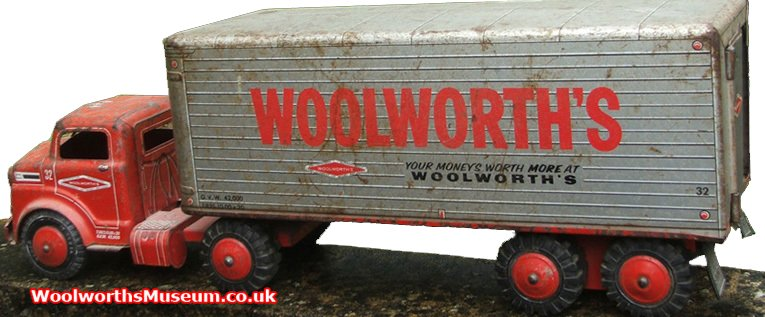 A 1950s sit and ride Woolworth lorry from the highly respected Marx Toy Company. These were sold in the larger stores in the USA