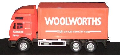A Chad Valley branded Woolworths lorry, which was part of the High Street chain's pre-school range in the mid 1990s.