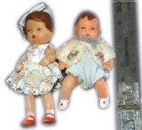 Tiny dolls, made from India rubber, sold as a special in Woolworths from sixpence (2&fract12;p) between the World Wars