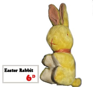 An Easter Bunny for sixpence from the Woolworths toy department