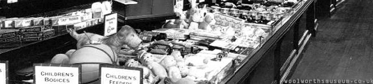 The toy displays in the Woolworth flagship store in Liverpool in 1923
