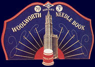 Sewing needles were sold on a card depicting the Woolworth Building from 1913 until the late 1950s and remain a popular collectable to this day