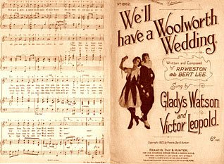 """We'll have a Woolworth Wedding"" © 1923 Francis, Day and Hunter, No. 16404."