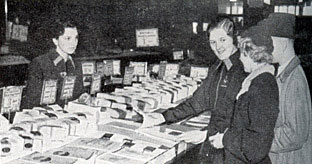 Almost business as usual in a British Woolworths stores at Christmas in 1939