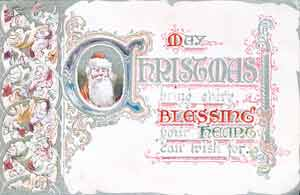 One of a small range of Christmas Cards chosen by the chain's founder, Frank W. Woolworth