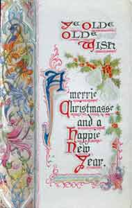 An original Christmas Card from before World War I, selected by Frank W. Woolworth for his British stores