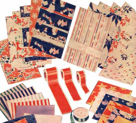 Part of the Woolies range of Wrapping Paper, tags and ribbons in the 1930s.
