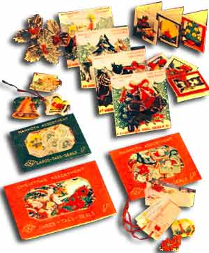 Pre-packed Woolworth Christmas Cards and Tags from the 1930s