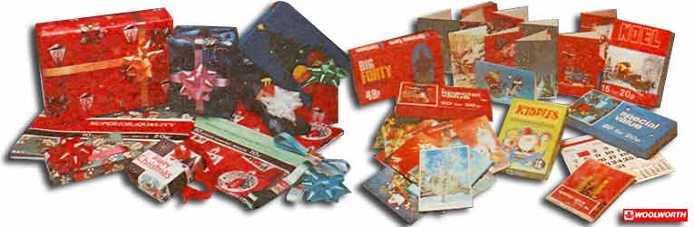 Woolworth Christmas Cards and Wrapping Paper from the 1970s. Every item was sold under the Winfield own-brand