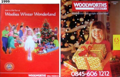 The two Woolworths Christmas Catalogues for 1999, when again stores distributed both versions to a slightly confused public