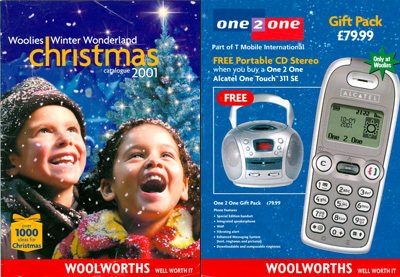 The Woolworths Christmas Catalogue for 2001, which went to press a few weeks after the chain demerged from Kingfisher Group.