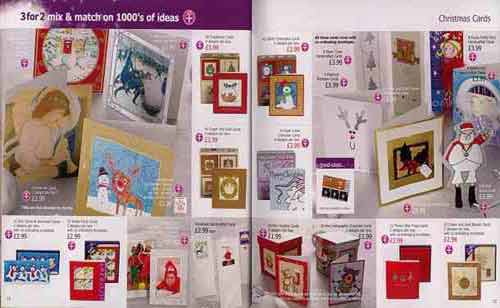 Part of the range of Christmas Cards from Woolworths Christmas Catalogue 2003